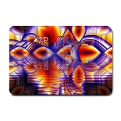 Winter Crystal Palace, Abstract Cosmic Dream Small Doormat by DianeClancy