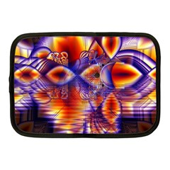 Winter Crystal Palace, Abstract Cosmic Dream Netbook Case (medium) by DianeClancy