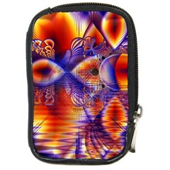 Winter Crystal Palace, Abstract Cosmic Dream Compact Camera Leather Case by DianeClancy
