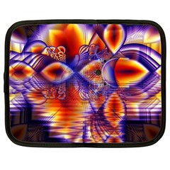Winter Crystal Palace, Abstract Cosmic Dream Netbook Case (xxl) by DianeClancy
