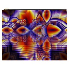 Winter Crystal Palace, Abstract Cosmic Dream Cosmetic Bag (xxxl) by DianeClancy
