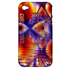Winter Crystal Palace, Abstract Cosmic Dream Apple Iphone 4/4s Hardshell Case (pc+silicone) by DianeClancy