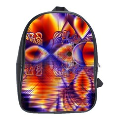 Winter Crystal Palace, Abstract Cosmic Dream School Bag (xl) by DianeClancy