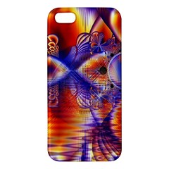 Winter Crystal Palace, Abstract Cosmic Dream Apple Iphone 5 Premium Hardshell Case by DianeClancy