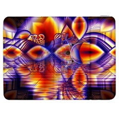 Winter Crystal Palace, Abstract Cosmic Dream Samsung Galaxy Tab 7  P1000 Flip Case by DianeClancy