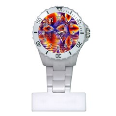 Winter Crystal Palace, Abstract Cosmic Dream Nurses Watch by DianeClancy
