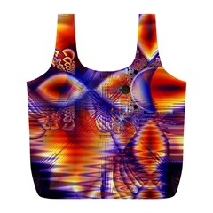 Winter Crystal Palace, Abstract Cosmic Dream Full Print Recycle Bag (l) by DianeClancy