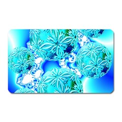 Blue Ice Crystals, Abstract Aqua Azure Cyan Magnet (rectangular) by DianeClancy