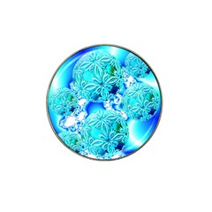 Blue Ice Crystals, Abstract Aqua Azure Cyan Hat Clip Ball Marker (10 Pack) by DianeClancy