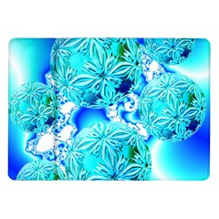 Blue Ice Crystals, Abstract Aqua Azure Cyan Samsung Galaxy Tab 10 1  P7500 Flip Case by DianeClancy
