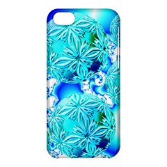 Blue Ice Crystals, Abstract Aqua Azure Cyan Apple Iphone 5c Hardshell Case