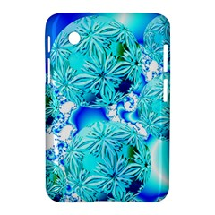 Blue Ice Crystals, Abstract Aqua Azure Cyan Samsung Galaxy Tab 2 (7 ) P3100 Hardshell Case  by DianeClancy