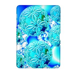 Blue Ice Crystals, Abstract Aqua Azure Cyan Samsung Galaxy Tab 2 (10 1 ) P5100 Hardshell Case