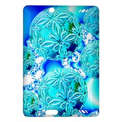 Blue Ice Crystals, Abstract Aqua Azure Cyan Kindle Fire Hd 7  (2nd Gen) Hardshell Case by DianeClancy