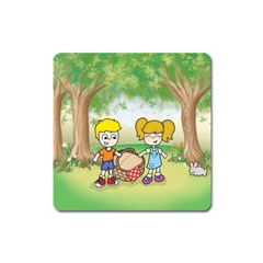 Picnic Time Magnet (square) by CaterinaBassano