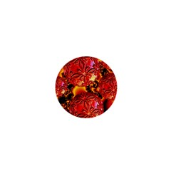 Flame Delights, Abstract Red Orange 1  Mini Button by DianeClancy