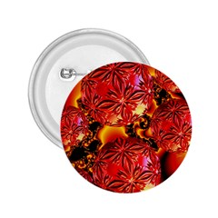 Flame Delights, Abstract Red Orange 2 25  Button by DianeClancy