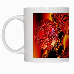 Flame Delights, Abstract Red Orange White Coffee Mug by DianeClancy