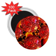 Flame Delights, Abstract Red Orange 2 25  Button Magnet (100 Pack) by DianeClancy