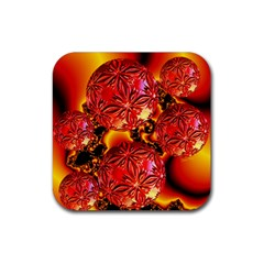 Flame Delights, Abstract Red Orange Drink Coasters 4 Pack (square) by DianeClancy