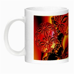 Flame Delights, Abstract Red Orange Glow In The Dark Mug by DianeClancy