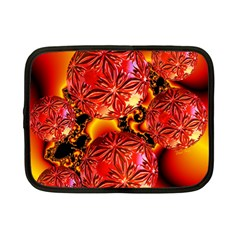 Flame Delights, Abstract Red Orange Netbook Sleeve (small) by DianeClancy