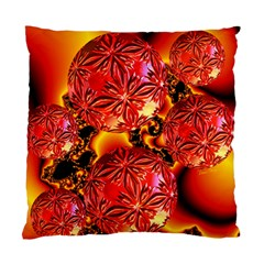 Flame Delights, Abstract Red Orange Cushion Case (single Sided)  by DianeClancy
