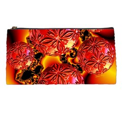 Flame Delights, Abstract Red Orange Pencil Case by DianeClancy