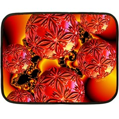 Flame Delights, Abstract Red Orange Mini Fleece Blanket (two Sided) by DianeClancy