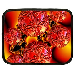 Flame Delights, Abstract Red Orange Netbook Sleeve (xl) by DianeClancy