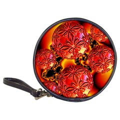 Flame Delights, Abstract Red Orange Cd Wallet