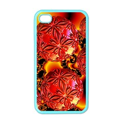 Flame Delights, Abstract Red Orange Apple Iphone 4 Case (color) by DianeClancy