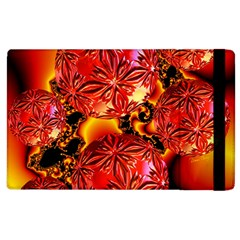Flame Delights, Abstract Red Orange Apple Ipad 2 Flip Case by DianeClancy