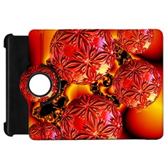 Flame Delights, Abstract Red Orange Kindle Fire Hd 7  (1st Gen) Flip 360 Case by DianeClancy