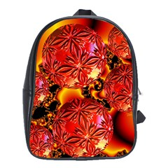 Flame Delights, Abstract Red Orange School Bag (xl) by DianeClancy