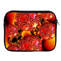 Flame Delights, Abstract Red Orange Apple Ipad Zippered Sleeve by DianeClancy