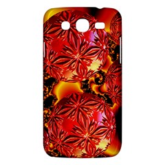 Flame Delights, Abstract Red Orange Samsung Galaxy Mega 5 8 I9152 Hardshell Case  by DianeClancy