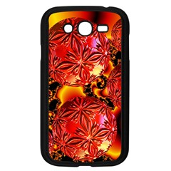 Flame Delights, Abstract Red Orange Samsung Galaxy Grand Duos I9082 Case (black) by DianeClancy