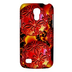 Flame Delights, Abstract Red Orange Samsung Galaxy S4 Mini (gt I9190) Hardshell Case  by DianeClancy