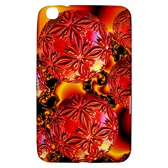 Flame Delights, Abstract Red Orange Samsung Galaxy Tab 3 (8 ) T3100 Hardshell Case  by DianeClancy