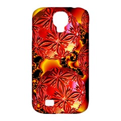 Flame Delights, Abstract Red Orange Samsung Galaxy S4 Classic Hardshell Case (pc+silicone) by DianeClancy