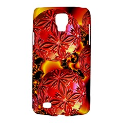 Flame Delights, Abstract Red Orange Samsung Galaxy S4 Active (i9295) Hardshell Case by DianeClancy