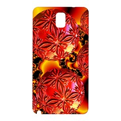 Flame Delights, Abstract Red Orange Samsung Galaxy Note 3 N9005 Hardshell Back Case by DianeClancy