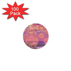 Glorious Skies, Abstract Pink And Yellow Dream 1  Mini Button (100 Pack) by DianeClancy