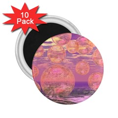 Glorious Skies, Abstract Pink And Yellow Dream 2 25  Button Magnet (10 Pack) by DianeClancy