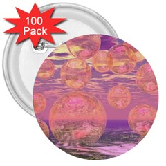 Glorious Skies, Abstract Pink And Yellow Dream 3  Button (100 Pack) by DianeClancy