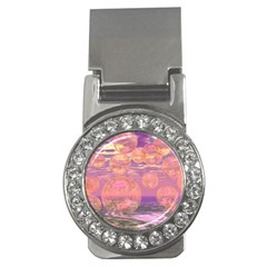 Glorious Skies, Abstract Pink And Yellow Dream Money Clip (cz) by DianeClancy