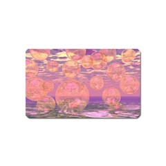Glorious Skies, Abstract Pink And Yellow Dream Magnet (name Card) by DianeClancy