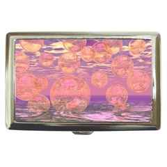 Glorious Skies, Abstract Pink And Yellow Dream Cigarette Money Case by DianeClancy
