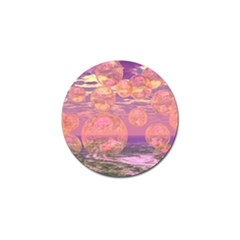 Glorious Skies, Abstract Pink And Yellow Dream Golf Ball Marker by DianeClancy